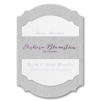 Wrapped in Dazzle Silver Glitter Printed Backer - Without Design