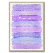 Bright Watercolor - Invitation with Backer - Hydrangea