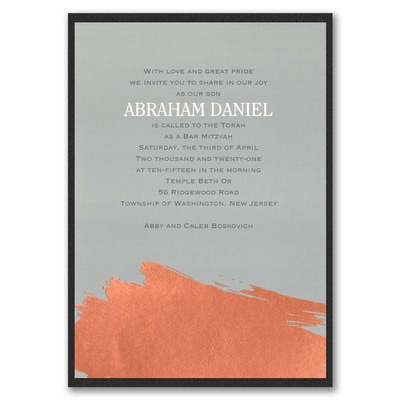 Painted Foil - Invitation with Backer