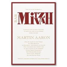 Party Mitzvah - Invitation
