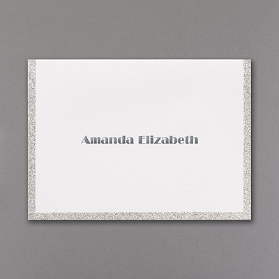 Silver Dazzle - Note Folder and Envelope