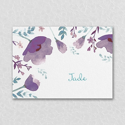 Pretty Poppies - Thank You Note - Violet