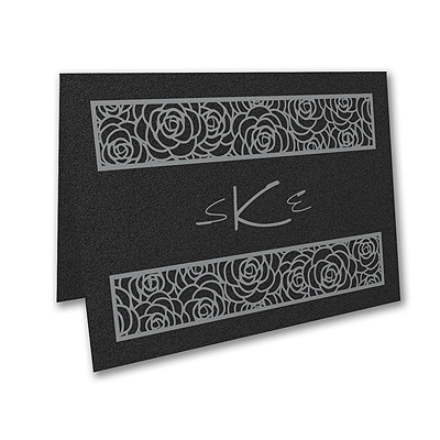 Meaningful Mitzvah - Girl - Thank You Note - Black Shimmer