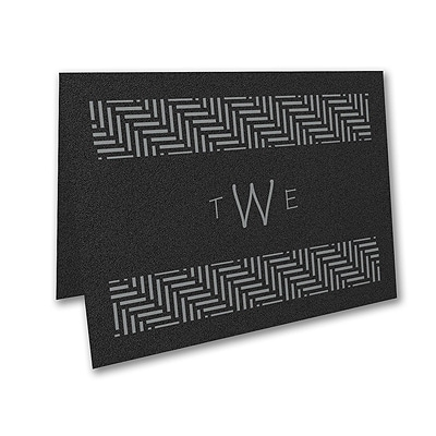 Meaningful Mitzvah - Boy - Thank You Note - Black Shimmer