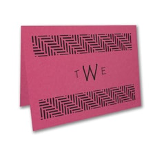 Meaningful Mitzvah - Boy - Thank You Note - Fuchsia