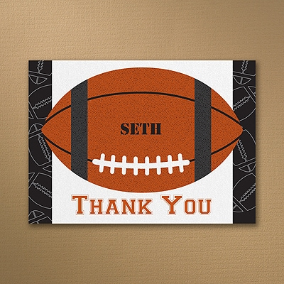 Sports Star - Football - Thank You Note