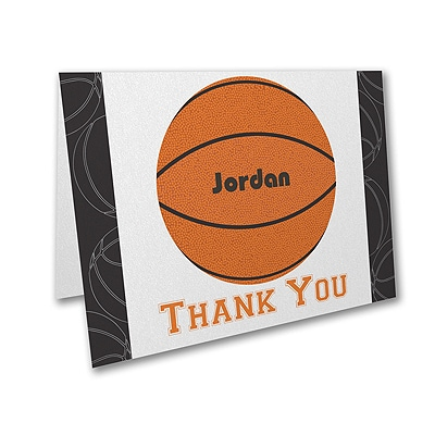 Sports Star - Basketball - Thank You Note