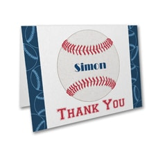 Sports Star - Baseball - Thank You Note