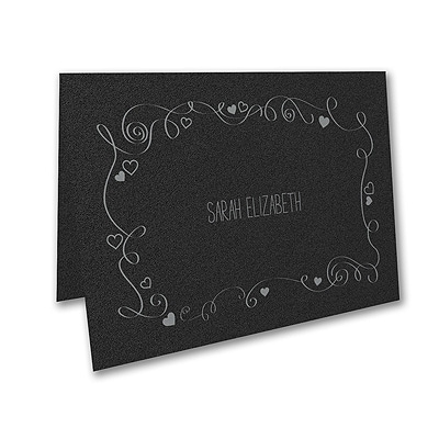 Turn of Tradition - Thank You Note - Black Shimmer