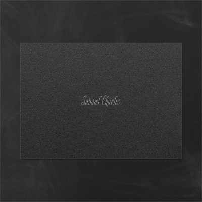 Thank You Note - Black Shimmer