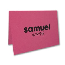 Shimmering Star - Thank You Card - Fuchsia