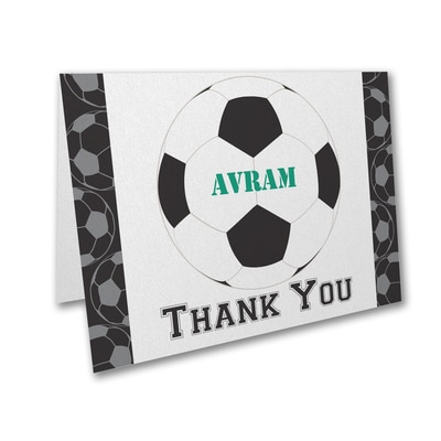 Sports Star - Soccer - Thank You Note