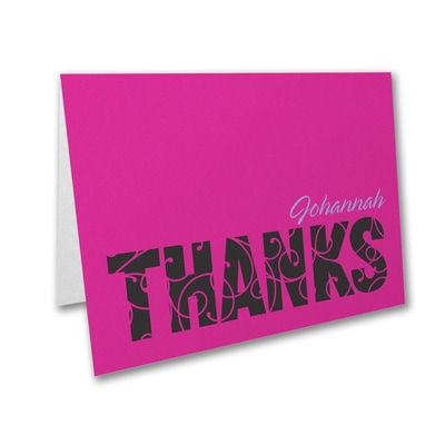 Mitzvah Swirls - Thank You Note