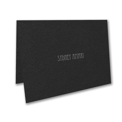 Designer Mitzvah - Thank You Note - Black Shimmer