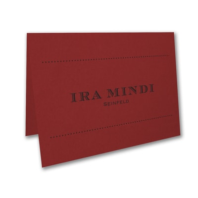 Mitzvah Type - Thank You Note - Claret
