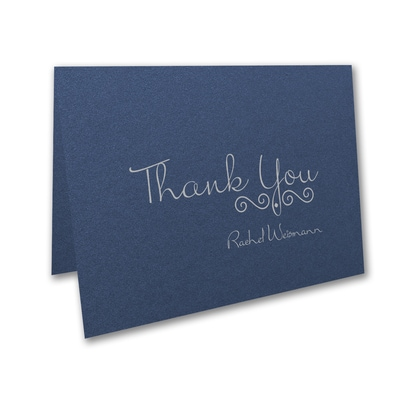 Thoughtful Messages - Thank You Note - Sapphire Shimmer