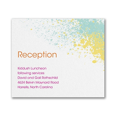 Color Splash - Reception Card