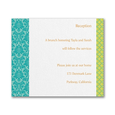 Captivating Combo -  Reception Card