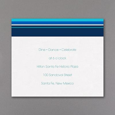 Sensational Stripes - Reception Card - Aqua