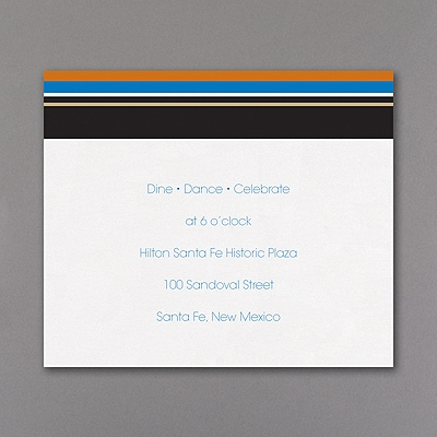 Sensational Stripes - Reception Card - Burnt Orange
