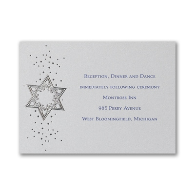 Star of David - Reception Card