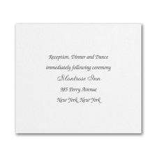 Sophisticated Layers - Reception Card