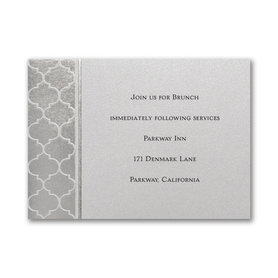 Moroccan Pattern - Reception Card