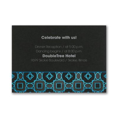 Geometric Cool - Reception Card