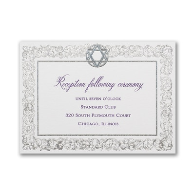 Star and Filigree - Reception Card