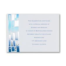 Hip Mosaic - Blues - Reception Card