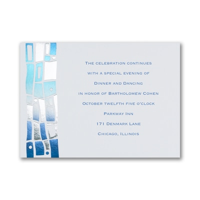 Hip Mosaic - Blues - Reception Card