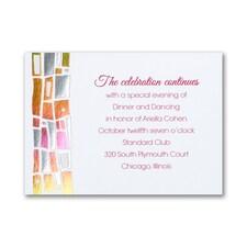 Hip Mosaic - Brights - Reception Card