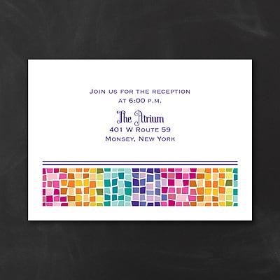 Marvelous Mosaic - Bat Mitzvah - Reception Card