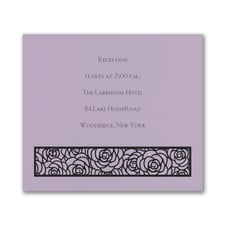 Meaningful Mitzvah - Girl - Reception Card - Lavender