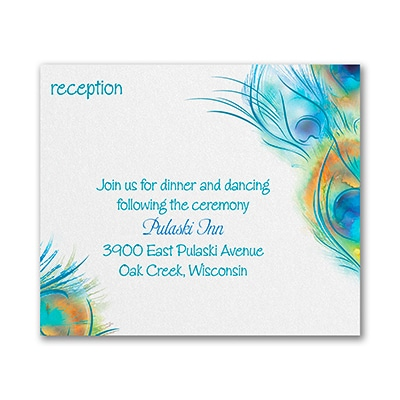 Peacock Persuasion - Reception Card