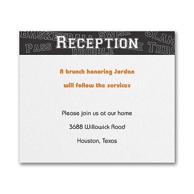 Sports Star - Basketball - Reception Card