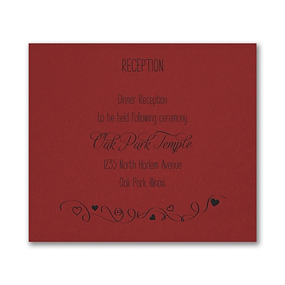 Turn of Tradition - Reception Card - Claret