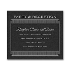 Exclusive VIP Pass - Reception Card - Black Shimmer