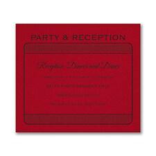 Exclusive VIP Pass - Reception Card - Claret