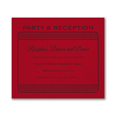 Exclusive VIP Pass - Reception Card - Claret