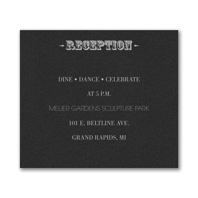 Poster Proclamation - Reception Card - Black Shimmer