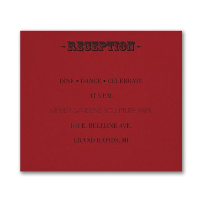 Poster Proclamation - Reception Card - Claret
