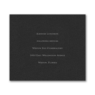 Shield of David - Reception Card - Black Shimmer