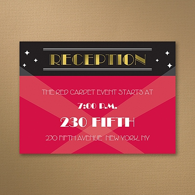 Red Carpet Event - Reception Card