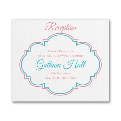 Hip and Happenin' - Reception Card