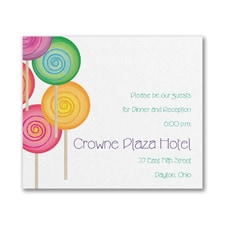 Sweet as Candy - Reception Card