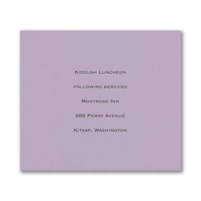 Reception Card - Lavender