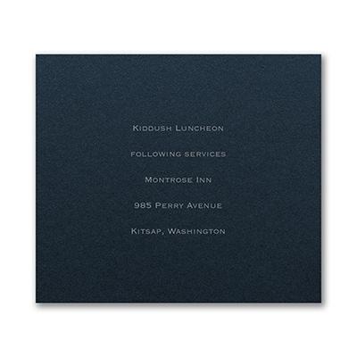 Reception Card - Navy Shimmer