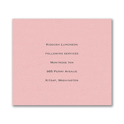 Reception Card - Pastel Pink Shimmer
