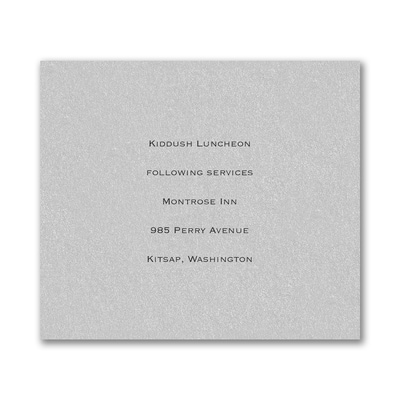 Reception Card - Silver Shimmer
